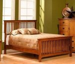 cheap bedroom sets american made mission slat bed 11034