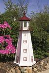 Amish-Made Marblehead Wooden Garden Lighthouse