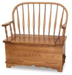 Amish Bent Feather Windsor Storage Bench