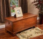 Cherry Wood Large Flat Top Hope Chest