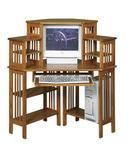 Mission Corner Computer Desk with Hutch