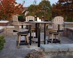 Poly Patio Pub Table Set with Four Swivel Bar Chairs