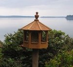 Mounted Gazebo Garden Bird Feeder