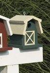 Painted Small Barn Garden Bird House