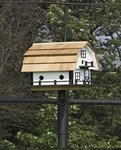 Barn-Style Martin Bird House with Six Compartments