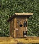 Rustic Outhouse Garden Bird House