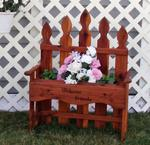 Amish Wooden Bench Planter