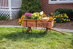 Amish Made Buckboard Wagon Planter