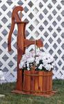 Amish Cedar Decorative Pump Planter with Bucket - Large