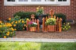 Small Corner Picket Fence Planter with Birdhouse