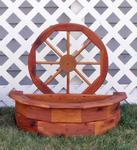 Decorative Wagon Wheel Planter - Small