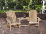 Cypress Double Adirondack Settee with Optional Ottomans