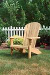 Amish Leisure Lawns Pine Wood Fan Back Garden Chair