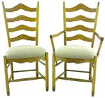 French Country Ladder-Back Dining Chair
