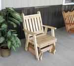 Cedar Wood Traditional English Glider Chair