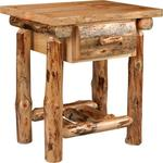 Lodge Pole Pine 1 Drawer Nightstand