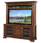 "Lincoln 68"" TV Stand with Optional Hutch Top"