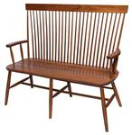 "Amish Solid Wood 48"" Buckeye Bench"