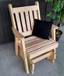 Amish Pine Wood Traditional English Glider Chair
