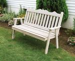 Amish Cedar Wood Royal English Garden Bench