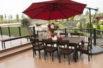 Amish 8' Golden Gate Poly Dining Set - Seats 8