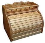 Roll Top Bread Box with Spice Storage Rail