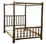 Rustic Hickory Canopy Bed