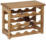 Amish Hardwood Medium Wine Rack with Top