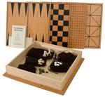 Amish Cherry and Maple Wood Game Box Set with 4 Games