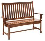 Amish West Lake Mission Bench with Back