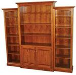 3-Unit Deluxe Traditional Bookcase