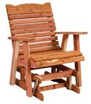 Cedar Wood Straightback Outdoor Glider