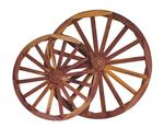 Decorative Red Cedar Buggy Wheel