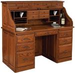 "Traditional 26"" x 56"" Roll Top Desk"
