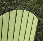 Kiwi green poly wood lounge chair Adirondack style