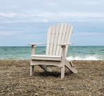 Seashell poly wood Adirondack lounge chair