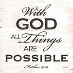With God All Things Are Possible Scripture Plaque