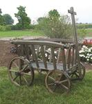 Wooden Goat Cart - Small Rustic