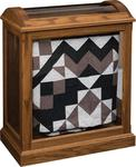 Amish Medium Quilt Curio with Enclosed Base