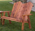 "Amish Red Cedar Outdoor 48"" Adirondack Bench"