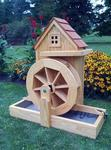 Waterwheel Gristmill Fountain with Electric Pump