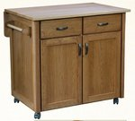Rolling Utility Drop Leaf Kitchen Island