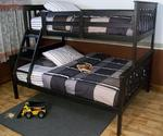 DutchCrafters Amish Kids Twin Over Full Bunk Bed