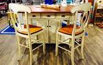 In Stock Amish Made Kitchen Island with Bar Stools