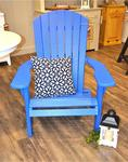 Leisure Lawns Blue Poly Adirondack Chair