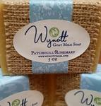 All Natural Patchouli and Rosemary Farm Fresh Goat Milk Soap
