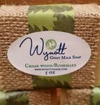 Handmade Goats Milk Soap Cedar Wood and Rosemary Scent