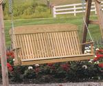 LuxCraft Classic Highback Pine Wood Porch Swing