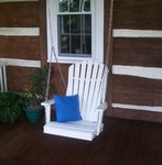 Amish Poly Adirondack Single Chair Swing