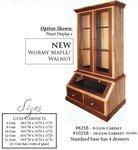 American Walnut & Wormy Maple Gun Cabinet from ...